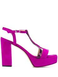 Marc Ellis Classic Heeled Sandals Purple
