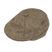 Dents Mens Driver Cap In Abraham Moon Tweed Spruce