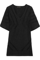 Vix Swimwear Luma Embroidered Cutout Voile Kaftan Black