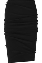 Tom Ford Ruched Stretch Jersey Skirt Black