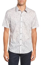 Zachary Prell Burgess Regular Fit Sport Shirt Pewter