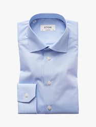 Eton Micro Gingham Check Contemporary Fit Shirt Blue