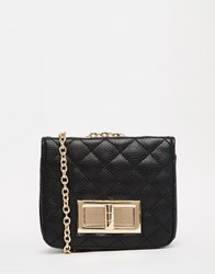 Liquorish Quilted Mini Cross Body Bag Black