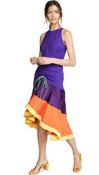 Prabal Gurung Jhanta Gathered Front Dress Violet Multi