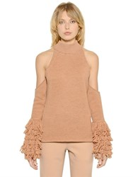 Jonathan Simkhai Open Shoulders Merino Wool Sweater