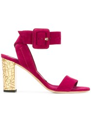 Brian Atwood Buckle Strap Sandals Pink And Purple