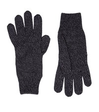 Dolce And Gabbana Knitted Marl Wool Gloves Unisex Grey