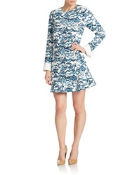 Essentiel Knit Shirtdress Blue Multi