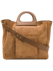 Max Mara Classic Tote Bag Brown