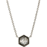 Cathy Waterman Women's Hexagonal Bezel Pendant Necklace No Color