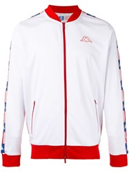 Kappa Logo Zipped Jacket Men Polyester M White