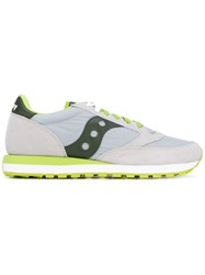 Saucony Jazz Original Sneakers Unisex Cotton Leather Polyester Rubber 4.5 Grey