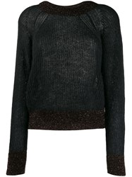 Pinko Glitter Detail Sweater Black