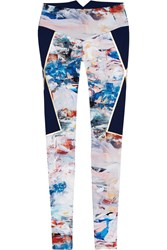 Lucas Hugh Nordica Printed Stretch Leggings White