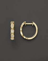 Kc Designs Bezel Set Diamond Hoops In 14K Yellow Gold .12 Ct. T.W. White Gold
