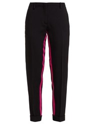 N 21 No. Inner Stripe Turned Up Tailored Trousers Black