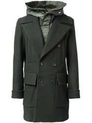 Juun.J Padded Double Breasted Coat Green