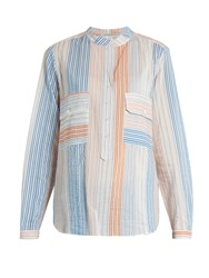 Stella Mccartney Striped Cotton Blend Shirt Multi