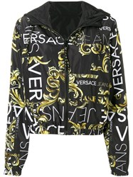 Versace Jeans Baroque Print Bomber Black