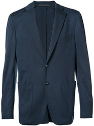 Pal Zileri Classic Blazer Men Rayon Wool 54 Blue