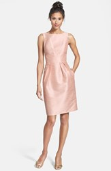 Women's Alfred Sung Boatneck Sheath Dress Pearl Pink