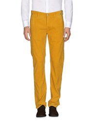Care Label Casual Pants Ocher