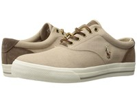 Polo Ralph Lauren Vaughn Taupe Dark Taupe End Canvas Sport Suede Shoes Beige