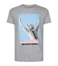 Boss Orange Talin Tiger Of The Month T Shirt Male Grey