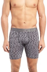 Naked Men's Philosophy Boxer Briefs White Black Heather