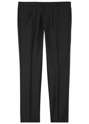 Oscar Jacobson Duke Wool Tuxedo Trousers Black