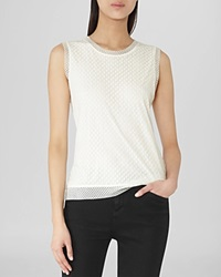 Reiss Tank Tasha Dotted Lace Overlay