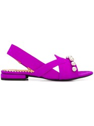 Toga Pulla Suede Sandals Purple