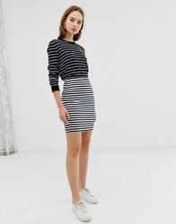 B.Young Stripe Jersey Skirt Multi