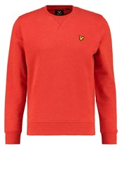 Lyle And Scott Sweatshirt Flame Red Marl