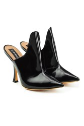 Y Project Leather Mules Black