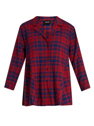 Rachel Comey Yuca Plaid Cotton Top Red Multi