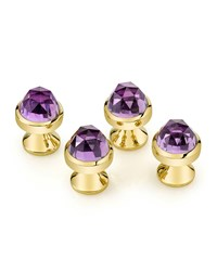 Rose Cut Amethyst Stud Set Suzanne Felsen Purple