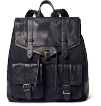 Proenza Schouler Ps1 Xl Canvas And Leather Backpack Blue