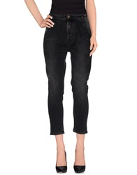 Novemb3r Denim Denim Trousers Women Lead