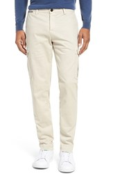 Eleventy Men's Vintage Wash Cargo Pants Cream