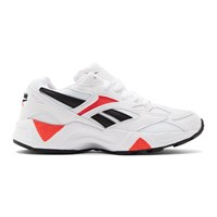 Reebok Classics White And Red Aztrek 96 Sneakers