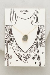Anthropologie Notecard Gifting Necklace Grey