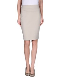 Kilian Kerner Senses Knee Length Skirts Dove Grey