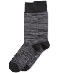 Alfani Men's Space Dyed Dress Socks Only At Macy's Black Grey