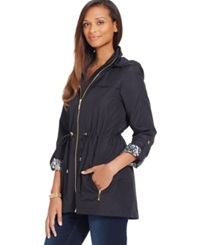 Jm Collection Petite Zip Pocket Hooded Anorak Jacket Only At Macy's