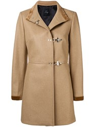 Fay Pin Fasten Coat Nude And Neutrals