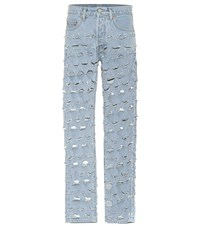 Vetements X Levi's Distressed Jeans Blue