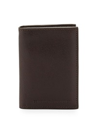 Brunello Cucinelli Leather Card Holder Wallet Brown