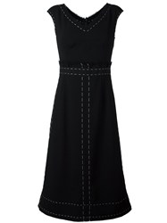 Dolce And Gabbana Flared Dress Black