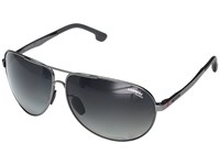 Carrera 8023 S Matte Dark Ruthenium With Gray Sf Polarized Lens Fashion Sunglasses Black